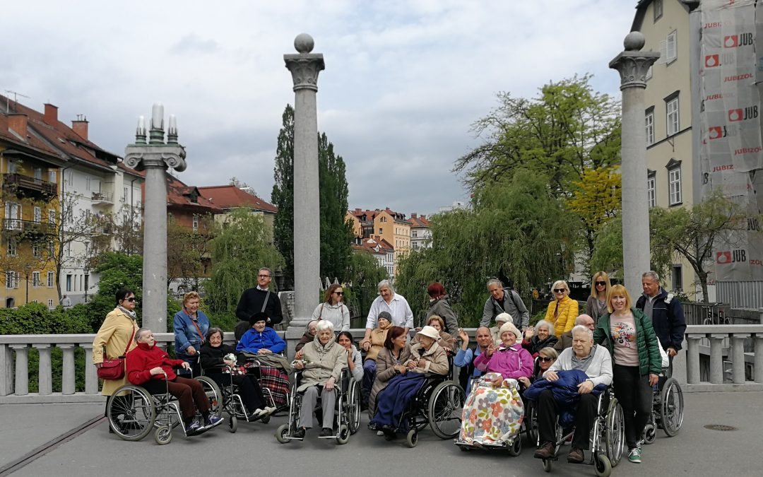 Holosophic Society Slovenia Organized a Spring Walk with the Elderly in Ljubljana (Slovenia)