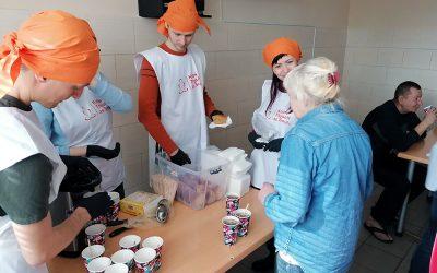 Delitev hrane brezdomcem